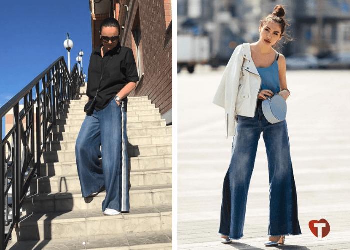 Широкие джинсы 2018/2019