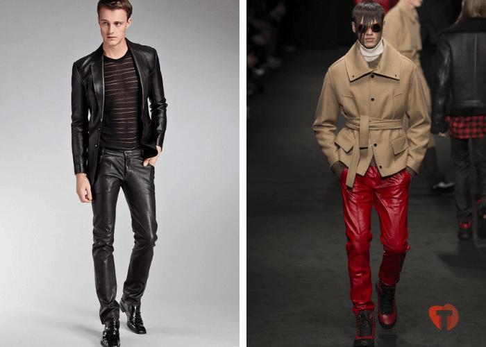 Кожаные брюки мода осень зима 2018/2019