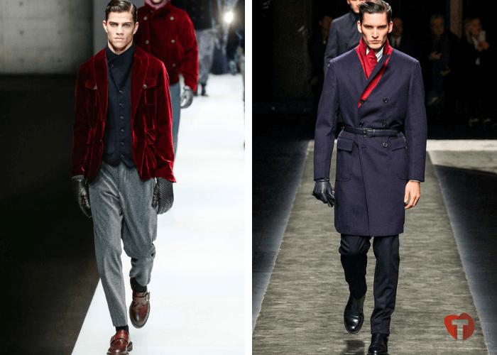 Мужчины мода осень зима перчатки