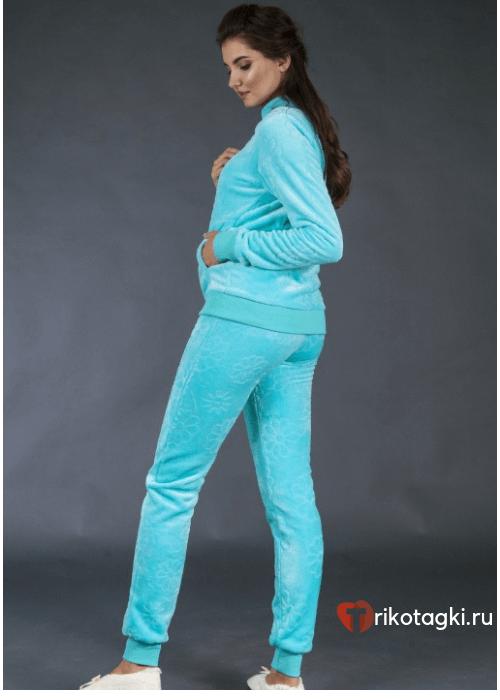 Голубой домашний костюм женский