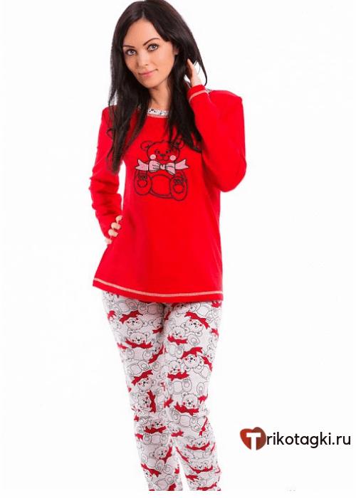 Домашний костюм женский красный