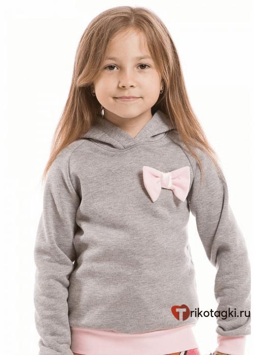 Толстовка детская серая на девочку