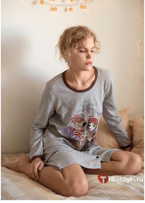 Сорочка женская с принтом
