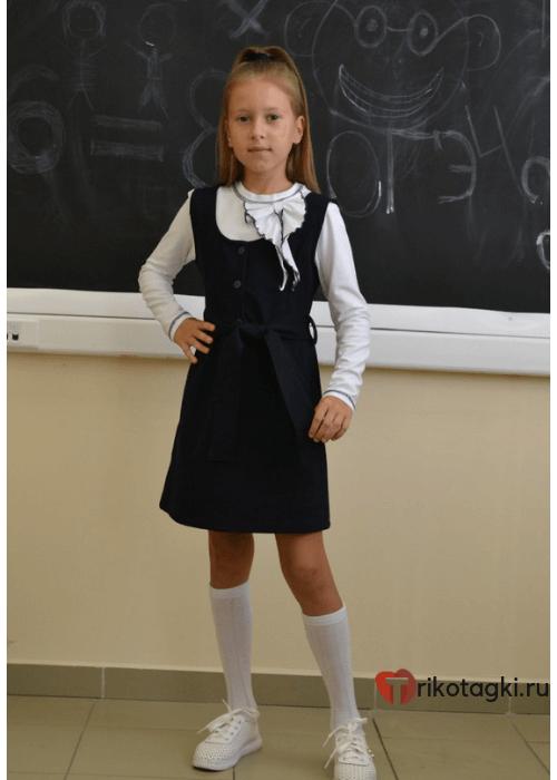 Сарафан школьный черный