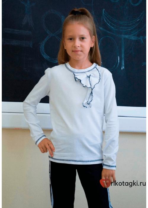 Блузка школьная белая с бантом