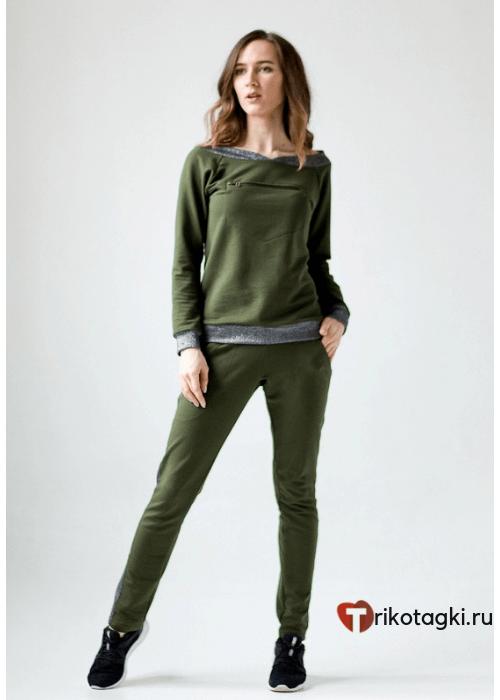 Молодежный костюм женский зеленый