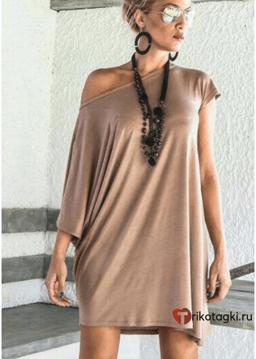 Туника женская с открытым плечом