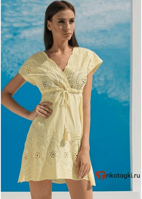 Туника женская летняя желтая