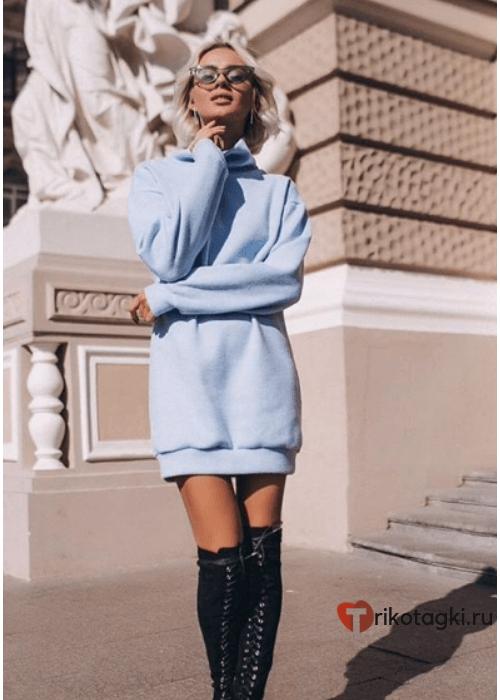 Платье - Туника женская голубая