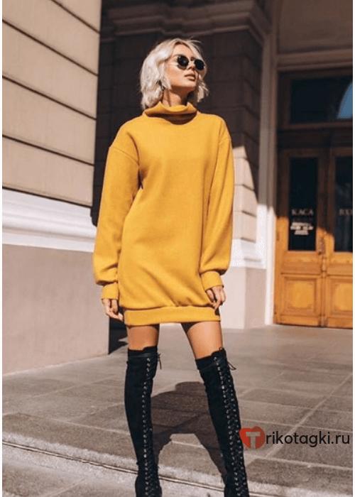 Платье - Туника женская желтая