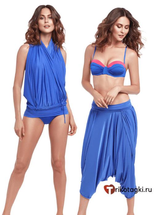 Туника трасформер женская синяя