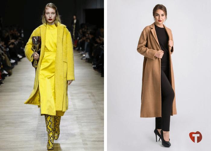 Желтый цвет в моде осень - зима 2018/2019