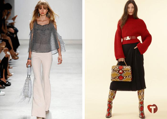 Женская мода 2018/2019 клеш, обувь