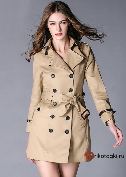 Женское пальто тренчкот