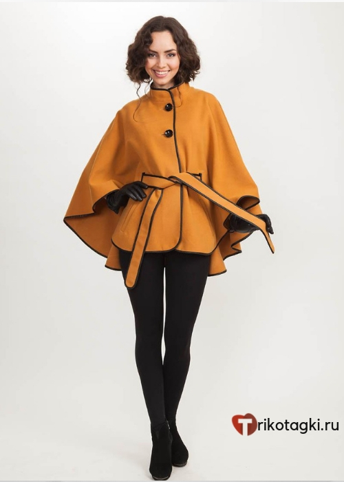Женское пальто накидка