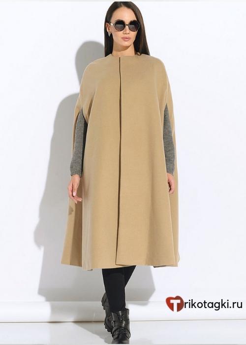 Женское пальто-кейп
