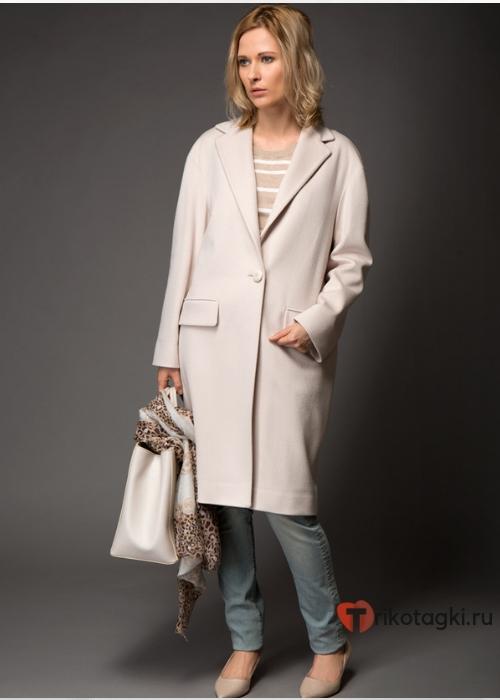 Женское пальто кокон