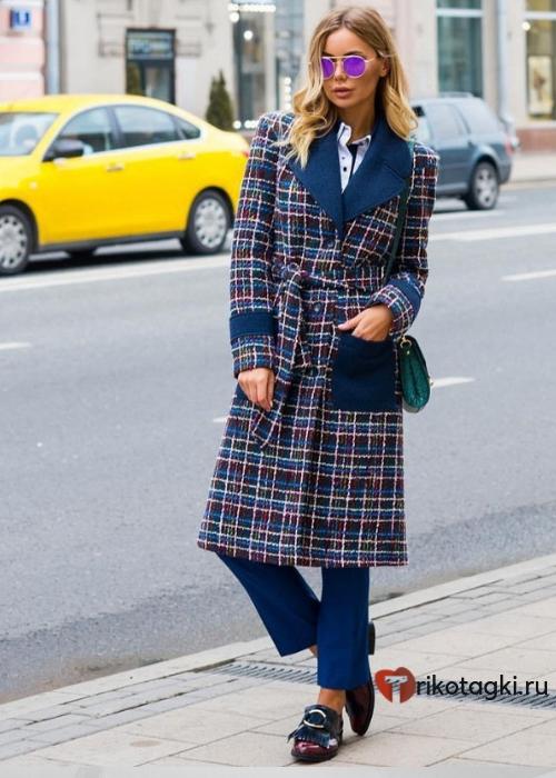 Женское пальто в английском стиле