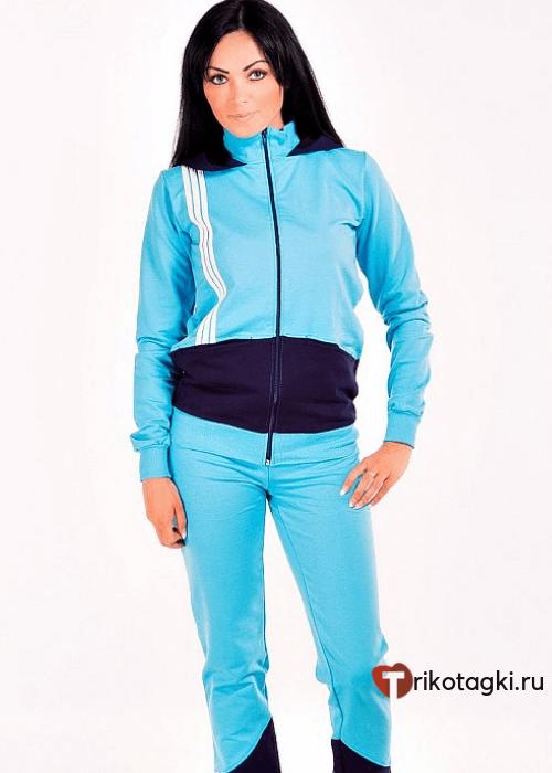 Спортивный костюм голубой женский