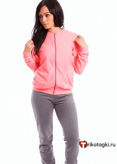 Костюм флисовый женский с розовой кофтой