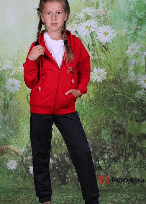 Костюм для девочки с красной олимпийкой