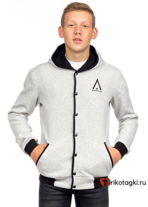 Куртка мужская белая с капюшоном