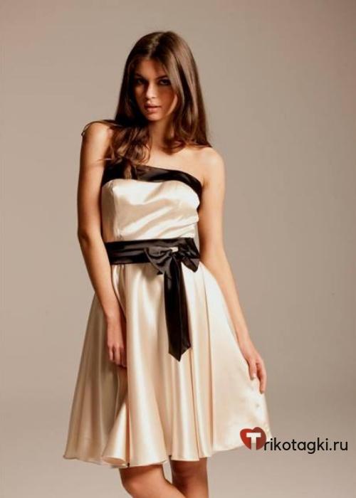Платье экрю короткое на новый год