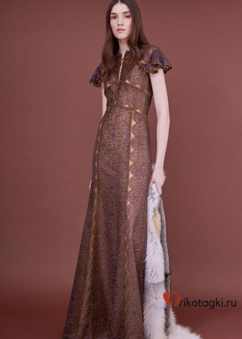 Шоколадное платье на новый год