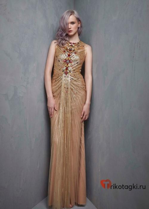 Платье золотое по фигуре