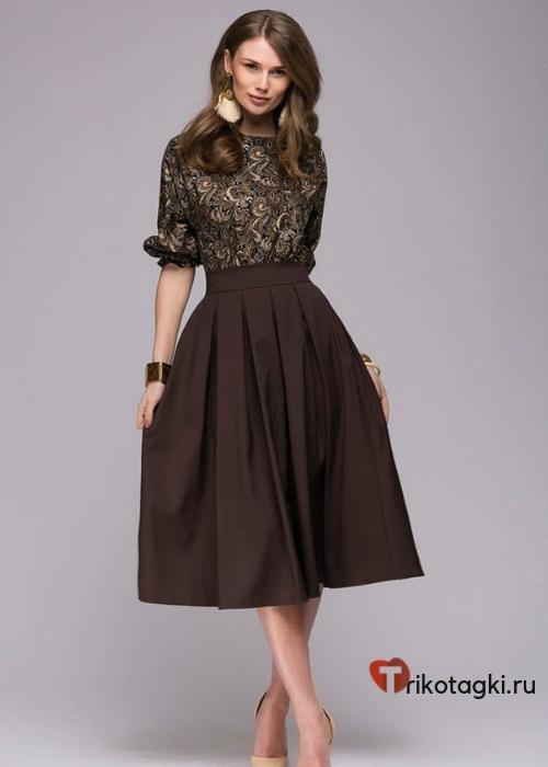 Платье шоколадное на новый год