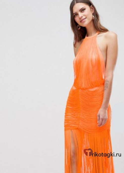 Оранжевое платье на новый год