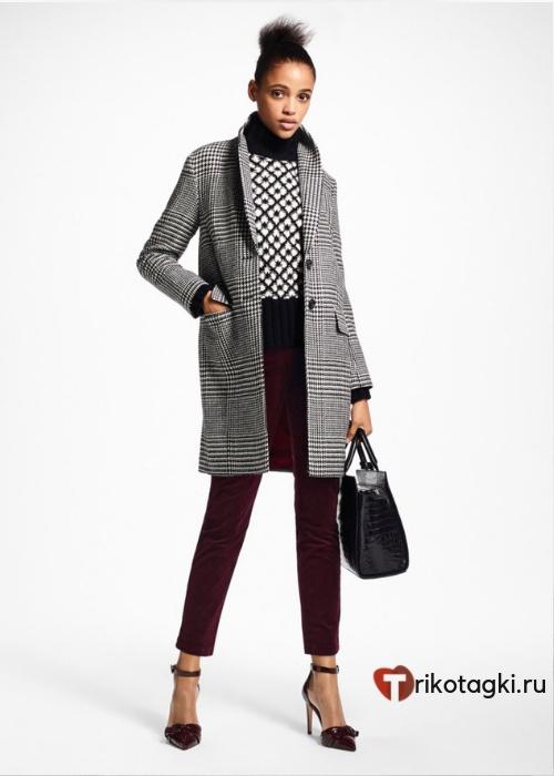 Пальто в английском стиле женское