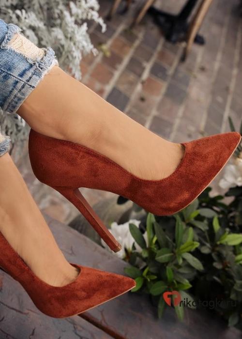 Терракотовые туфли на шпильке