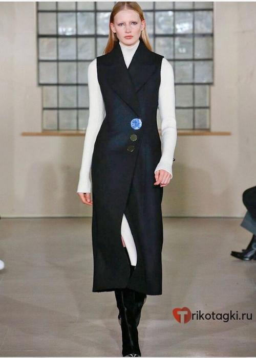 Платье - сарафан черное