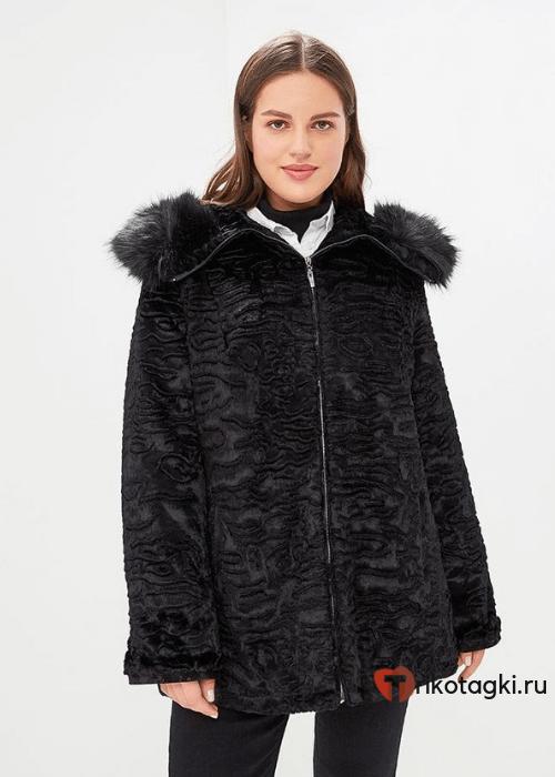 Модное пальто из искусственного каракуля