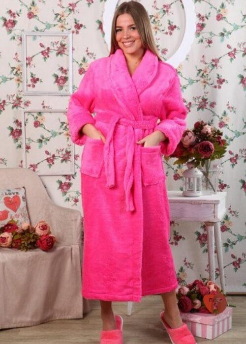 Халат розовый
