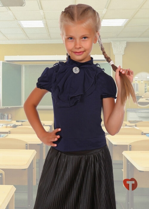 Блузка синяя детская