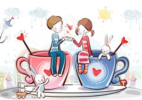 Влюбленные пьют чай