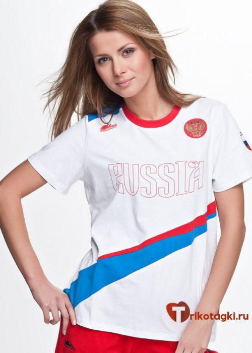 Футболка женская с принтом Россия