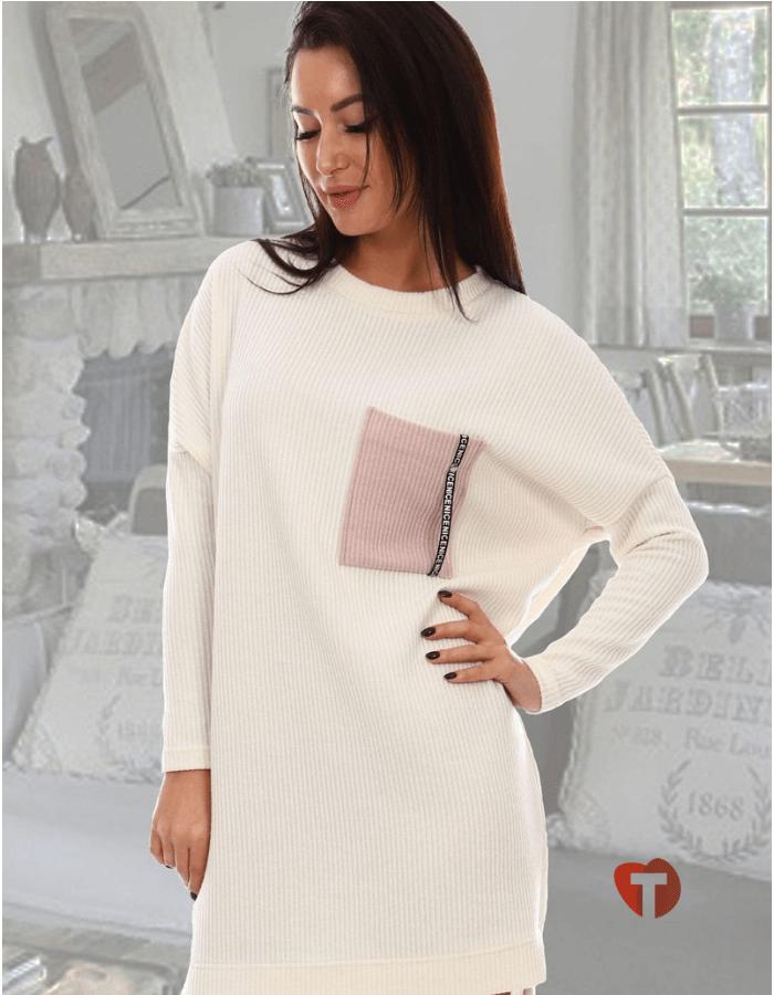 Платье - туника белая