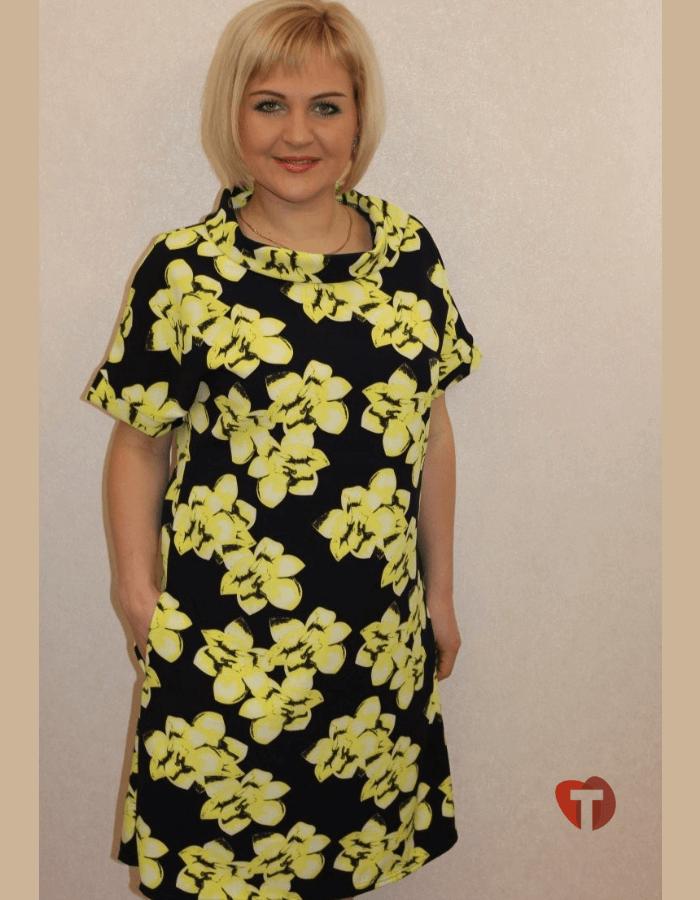Платье с желтыми цветами
