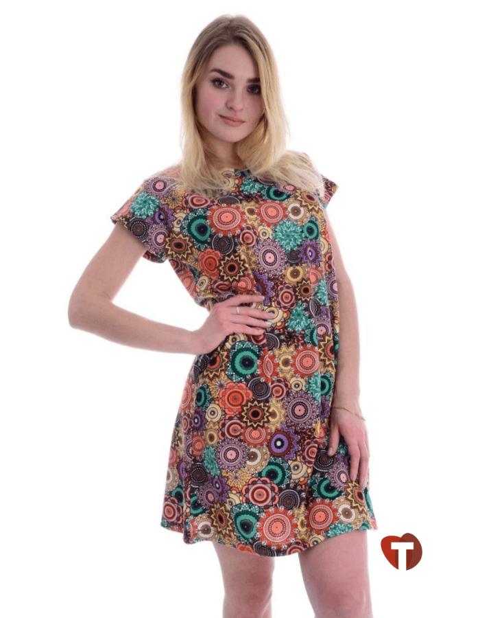 Платье легкое цветное