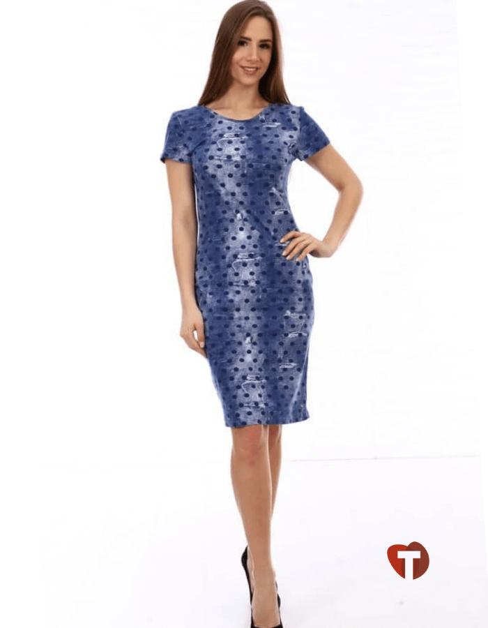 Платье женское голубое
