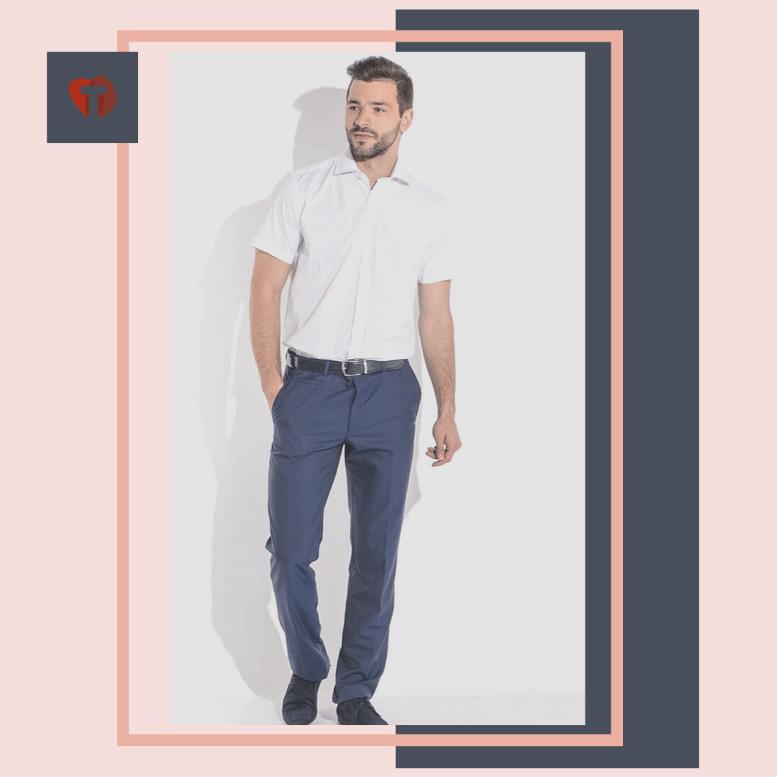 Мужские офисные брюки со ст