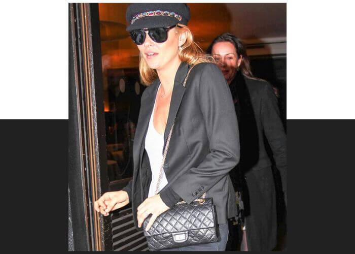 Кейт Мосс и сумка 2.55 от Chanel