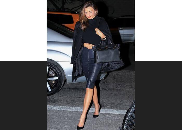 Миранда Керр и сумка Kelly от Hermès