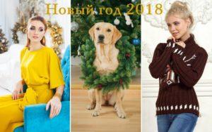 Желтое платье, собака и джемпер